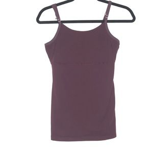Beyond Yoga Size S/M Burgundy Tank Top